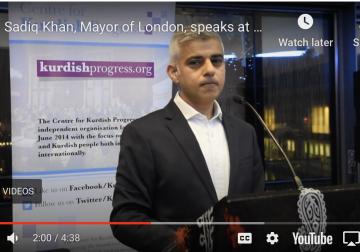 Sadiq Khan, Mayor of London, speaks at Newroz Reception at London City Hall