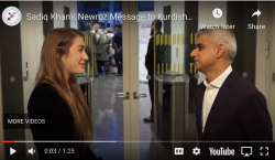 Sadiq Khan's Newroz Message  to Kurdish Community