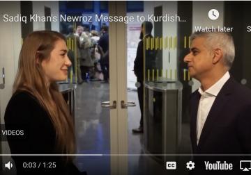 Sadiq Khan's Newroz Message  to Kurdish Community