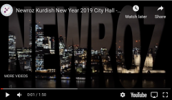 Newroz Kurdish New Year 2019 City Hall – Highlights