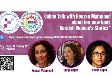 "Online Talk with Houzan Mahmoud about her new book ""Kurdish Women's Stories"""